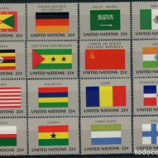 Sellos: NACIONES UNIDAS NEW YORK 1985 IVERT 440/55 *** BANDERAS ESTADOS MIEMBROS DE NACIONES UNIDAS (VI). Lote 212989597
