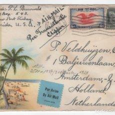 Sellos: 1941 CARTA FRANQUEADA DE NORTEAMERICA A HOLANDA OCUPACION NAZI. Lote 210778912