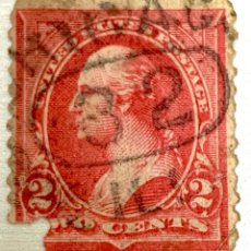 Sellos: SELLO USA 2 CENTS GEORGE WASHINGTON LINES OF GROUNDWORK 1894 ROJO . DEFECTO. Lote 215125141