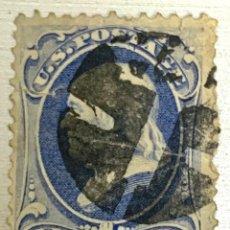Sellos: SELLO USA 1870/71 FLANKLIN 1 CENT AZUL . CON MATASELLO .. Lote 215125306