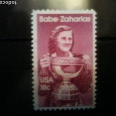 Sellos: BABE ZACARIAS SELLO ESTADOS UNIDOS. Lote 215997236