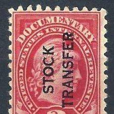 Timbres: ESTADOS UNIDOS 1914 - SELLO DE INGRESOS INTERNOS, DOCUMENTARY, LIBERTAD, SOBREIMPRESO - MH. Lote 216605725