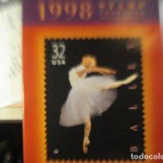 Sellos: ESTADOS UNIDOS - PRECIOSO ALBUM CON LOS SELLOS NUEVOS DEL AÑO 1998 - DE LUJO - ALBUM LIBRO. Lote 217056520