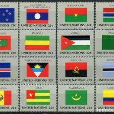 Sellos: NACIONES UNIDAS NUEVA YORK 1986 IVERT 467/82 *** BANDERAS DE LOS ESTADOS MIEMBROS DE LA O.N.U. (VII). Lote 217330450