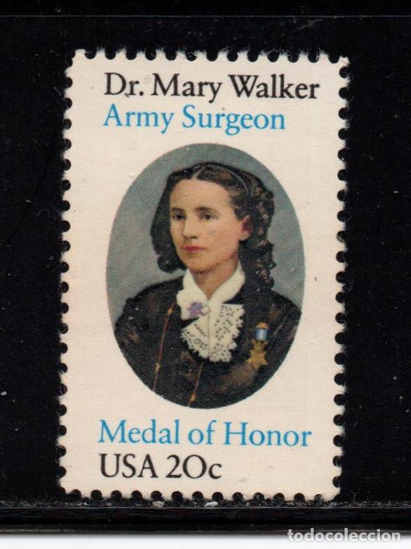 ESTADOS UNIDOS 1443** - AÑO 1982 - 150º ANIVERSARIO DEL NACIMIENTO DE LA DOCTORA MARY WALKER (Sellos - Extranjero - América - Estados Unidos)