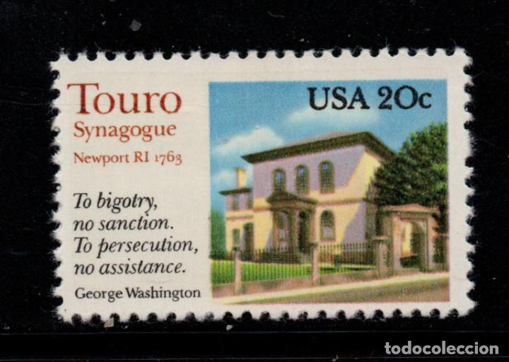 ESTADOS UNIDOS 1448** - AÑO 1982 - SINAGOGA TOURO, NEW PORT (Sellos - Extranjero - América - Estados Unidos)
