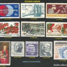 Sellos: E.E.U.U. 1962 A 1985 - LOTE VARIADO (VER IMAGEN) - 11 SELLOS USADOS. Lote 218008235