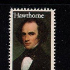 Sellos: ESTADOS UNIDOS 1486** - AÑO 1983 - ARTE Y LITERATURA -NATHANIEL HAWTHORNE, ESCRITOR. Lote 268173859