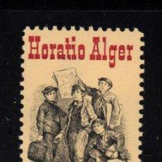 Sellos: ESTADOS UNIDOS 1439** - AÑO 1982 - 150º ANIVERSARIO DEL NACIMIENTO DEL ESCRITOR HORATIO ALGER. Lote 218803812