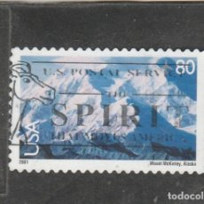 Francobolli: EE.UU 2001 - YVERT NRO.PA129 - MOUNT MACKINLEY - USADO. Lote 219201937