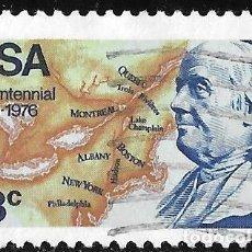 Selos: ESTADOS UNIDOS 1976. II CENTENARIO DE LA INDEPENDENCIA. FRANKLIN. 13 PRIMEROS ESTADOS. YVERT 1135. Lote 220682527