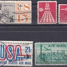Sellos: LOTE DE SELLOS - ESTADOS UNIDOS - USA - AIR MAIL - AVIONES - (AHORRA EN PORTES, COMPRA MAS). Lote 221425047
