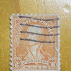 Sellos: UNITED ESTATES, GEORGE WASHINGTON 6 CENTS. AÑO 1932. USADO. Lote 223277163