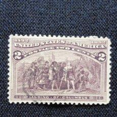 Sellos: UNITED STATES, 2 CENTS, COLUMBUS, AÑO 1893, USADO.. Lote 225592545