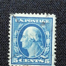 Sellos: UNITED STATES, 5 CENTS, WASHINGTON, AÑO 1902, USADO.. Lote 225598865