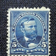 Sellos: UNITED STATES, 5 CENTS, S.GRANT, AÑO 1898, USADO.. Lote 225603930