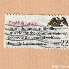 Sellos: USA 22 PREÁMBULO CONSTITUCIÓN AMERICANA. Lote 227899805