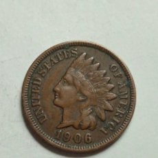 Sellos: MONEDA UNITED STATES ONE CENT BUSTO DE INDIO 1906.. Lote 231535145