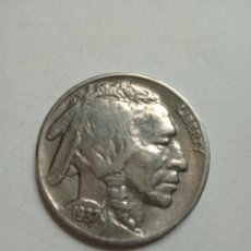 Sellos: MONEDA UNITED STATES FIVE CENTS BUSTO DE INDIO 1937.. Lote 231536970