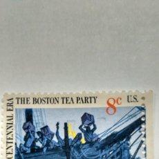 Sellos: SELLO ESTADOS UNIDOS YT Nº 997. TEA PARTY. 1973. USADO.. Lote 235447415