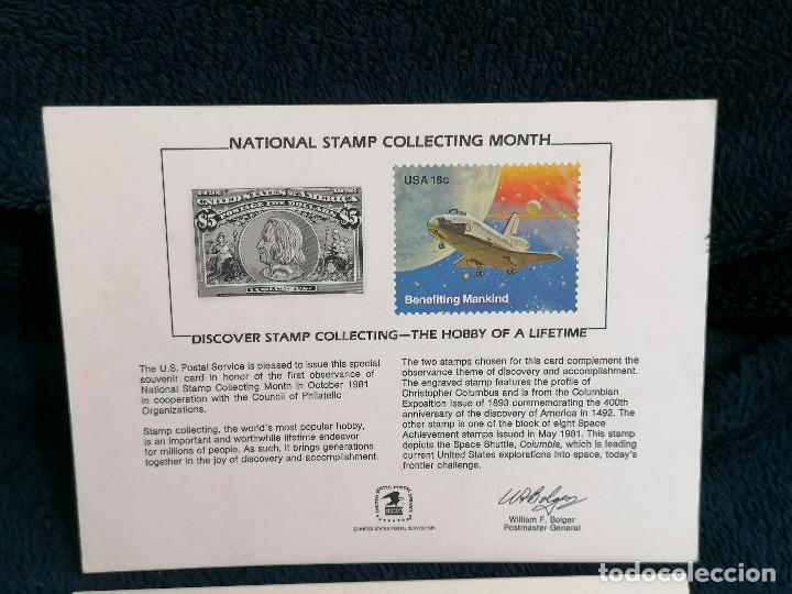 Sellos: España USA Targeta conmemorativa emision sellos 1984 - Foto 2 - 235509585
