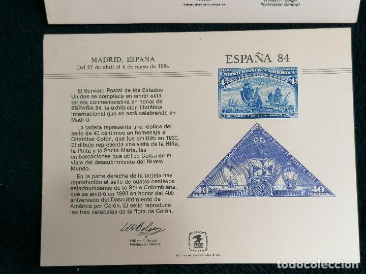 Sellos: España USA Targeta conmemorativa emision sellos 1984 - Foto 3 - 235509585