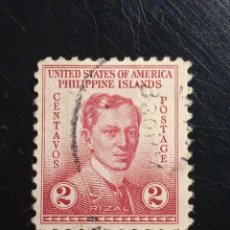 Sellos: UNITED STATES PHILIPPINES 2 CENTS RIZAL 1935,. Lote 235836230