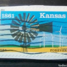 Francobolli: USA 2011 ANIVERSARIO DE KANSAS SELLO USADO NO LAVABLE. Lote 244958665