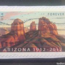 Francobolli: USA 2012, 150 ANIVERSARIO DE ARIZONA SELLO USADO NO LAVABLE. Lote 244970410