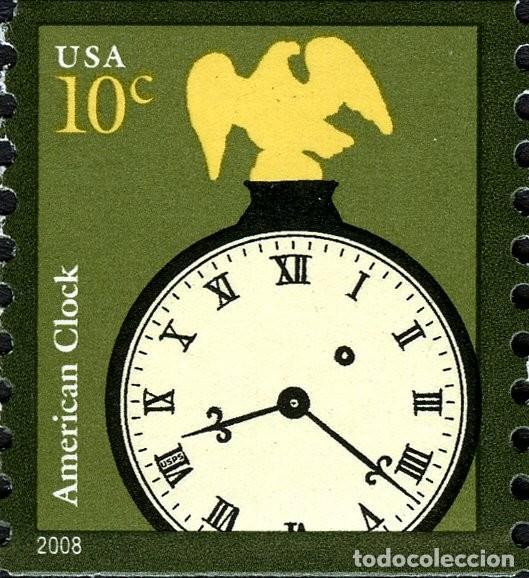 USA 2008 SCOTT 3763 SELLO * RELOJ AMERICANO MICHEL 4410 YVERT 4086 SG ESTADOS UNIDOS UNITED STATES (Sellos - Extranjero - América - Estados Unidos)
