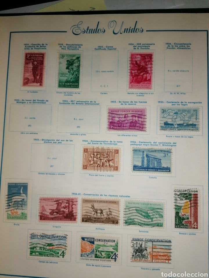 Sellos: Colección de sellos de Estados Unidos - Foto 26 - 245890305