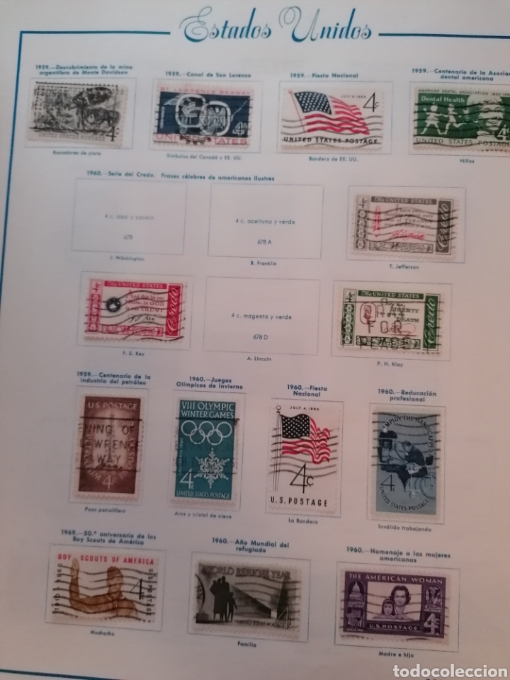 Sellos: Colección de sellos de Estados Unidos - Foto 30 - 245890305