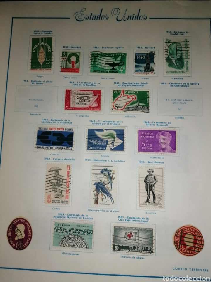 Sellos: Colección de sellos de Estados Unidos - Foto 33 - 245890305