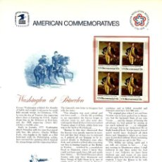 Sellos: USA 1977 COMMEMORATIVE PANEL 73 WASHINGTON AT PRINCETON - CHARTER MEMBER. Lote 246560835