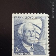 Sellos: UNITED STATES 2 CENTS FRANK LLOYD AÑO 1968.. Lote 248031600