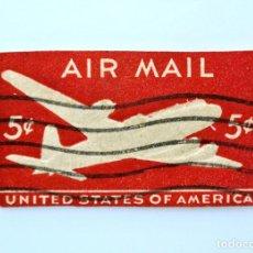 Sellos: SELLO ESTADOS UNIDOS 1946, 5 C, AVION DC-4 (EN RELIEVE), PREFRANQUEO DE SOBRE, USADO. Lote 251736255