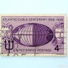 Sellos: SELLO ESTADOS UNIDOS 1958, 4 C, CENTENARIO DE ATLANTIC CABLE, CONMEMORATIVO, USADO. Lote 251838775