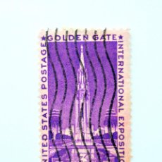 Sellos: SELLO ESTADOS UNIDOS 1939, 3 C, GOLDEN GATE - TORRE DEL SOL, EXPOSICIÓN INTERNACIONAL SAN FRANCISCO. Lote 251844635