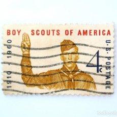Sellos: SELLO ESTADOS UNIDOS 1960, 4 C, BOYS SCOUTS DE AMERICA, 50 ANIVERSARIO, USADO. Lote 251859405