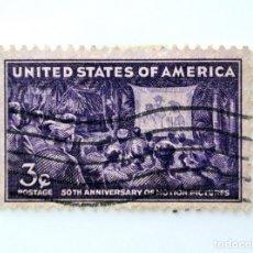 Sellos: SELLO ESTADOS UNIDOS 1944, 3 C, 50 ANIVERSARIO PROYECCIÓN DE PELÍCULAS PARA FUERZAS ARMADAS PACÍFICO. Lote 252474460
