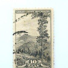 Sellos: SELLO ESTADOS UNIDOS 1934, 10 C, GREAT SMOKY MOUNTAINS NATIONAL PARK, ***CORTE RECTO INFERIOR. Lote 252638650