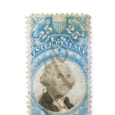 Sellos: SELLO ESTADOS UNIDOS 1871, 25 C, INGRESOS INTERNOS DE EE. UU. ,INTER REVENUE, FECHADO 1896. Lote 252643880