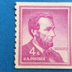 Sellos: USA. EEUU. ESTADOS UNIDOS. YVERT 589 A. PRESIDENTE ABRAHAM LINCOLN. AÑO 1954.. Lote 253598275