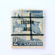 Sellos: SELLO POSTAL ESTADOS UNIDOS 1959, 2 1/2 C, MONUMENTO BUNKER HILL, TUCSON ARIZONA, USADO. Lote 254417180