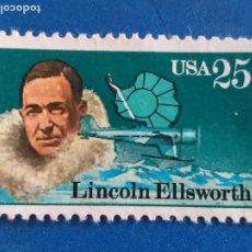 Sellos: USA. ESTADOS UNIDOS. 1831 EXPLORADORES DE LA ANTARTIDA: LINCOLN ELLSWORTH. AÑO 1988. Lote 254769760