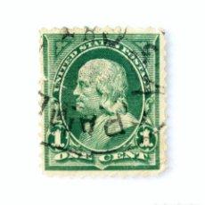 Sellos: SELLO POSTAL ESTADOS UNIDOS 1898, 1 C,BENJAMIN FRANKLIN. Lote 255483635