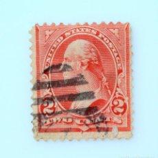 Sellos: SELLO POSTAL ESTADOS UNIDOS 1894, 2 C, GEORGE WASHINGTON, USADO. Lote 255538155
