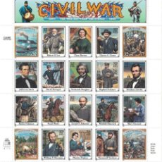 Sellos: ⚡ DISCOUNT USA 1995 CIVIL WAR- THE WAR BETWEEN THE STATES, 1861-1865 MNH - WARS, GENERALS. Lote 255622225
