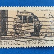 Sellos: ESTADOS UNIDOS. USA. AÑO 1971. YVERT 939. PRESERVACIÓN PATRIMONIO HISTÓRICO. TRANVIA, TREN.. Lote 255700910