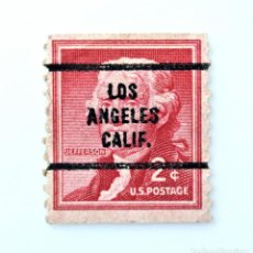 Sellos: SELLO POSTAL ESTADOS UNIDOS 1954, 2 C, THOMAS JEFFERSON, PRECANCELADO, LOS ANGELES, CALIFORNIA. Lote 258185070